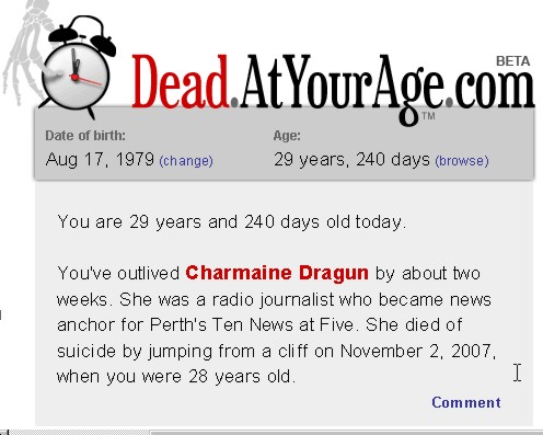 Death at your age