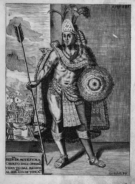 Moctezuma II, 1715 by Antonio de Solis (Wikipedia)