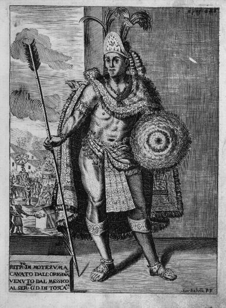 Moctezuma II, 1715 by Antonio de Solis (Wikipedia)