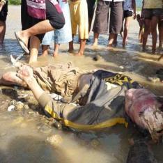 Yusrizal (29) warga Desa Blower, seorang mahasiswa STIK Banda Aceh, Minggu (14/6) ditemukan tewas di sungai Alas di Desa Pedesi, Kecamatan Bambel, Agara. Korban merupakan mahasiswa yang melakukan riset orang utan di Ketambe Agara.SERAMBI/ASNAWI