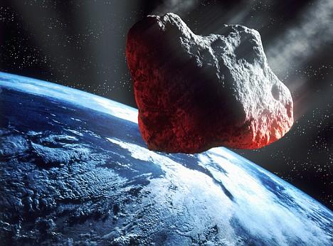 Batu yang pada awalnya sangat besar, namun terbakar di atmosfir bumi.