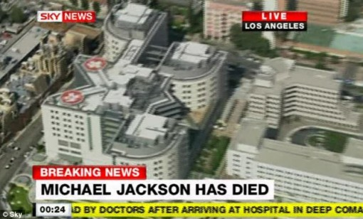 Medical treatment: Jackson was rushed to the UCLA Medical Centre in Los Angeles, where he was pronounced dead by doctors