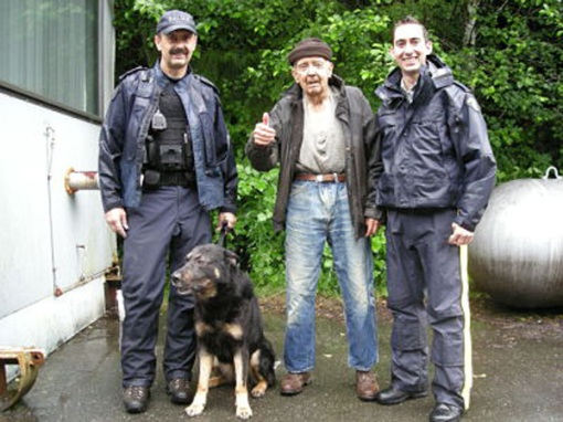 Bob Bennett, 84, gives the thumbs-up after being rescued from a well on his rural B.C. property. June 25, 2009. (RCMP handout photo) CTV.CA