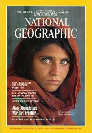 Steve McCurry menggunakan rol film Kodachrome untuk mengambil gambar mengharukan dari gadis Afgan dengan mata yang tergenang air mata (Baca Kisahnya : http://ngm.nationalgeographic.com/2002/04/afghan-girl/index-text )