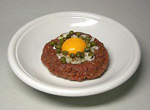steak tartare  (Wikipedia)