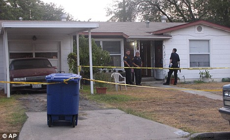 San Antonio police investigate a home where the 3-week-old baby boy was stabbed and mutilated  Read more: http://www.dailymail.co.uk/news/worldnews/article-1202776/Pictured-The-mother-accused-stabbing-week-old-baby-boy-death-mutilating-corpse.html#ixzz0y4qweSHH