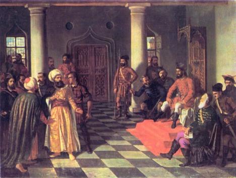 Utusan Sultan Mehmed II di Kastil Vlad Dracul (Wikipedia)
